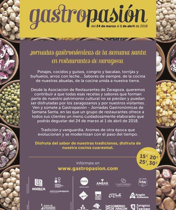 Más de una veintena de restaurantes de Zaragoza se suman a la 'Gastropasión'