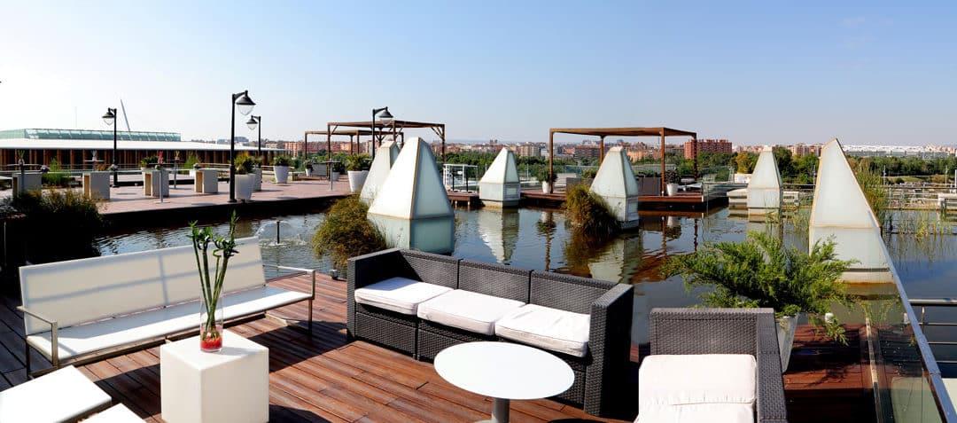 Restaurante del Acuario de Zaragoza, una de las terrazas con mejores vistas