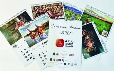 La Asociación de Cocineros de Aragón presenta su calendario solidario 2021