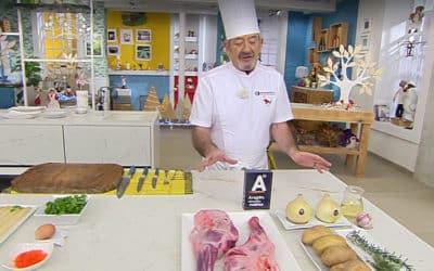 Karlos Arguiñano acerca a las cocinas españolas productos aragoneses